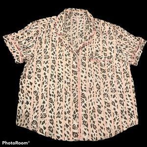 Victoria's Secret Button down pj shirt silky XL